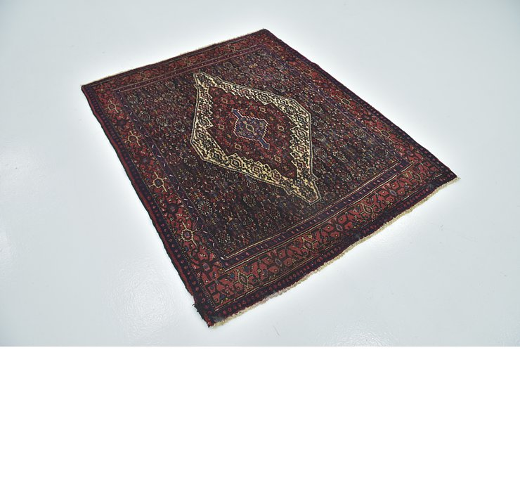 135cm x 168cm Senneh Persian Square Rug