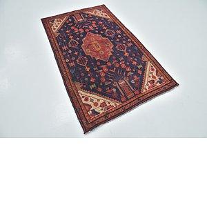 3' 6 x 6' Hamedan Persian Rug