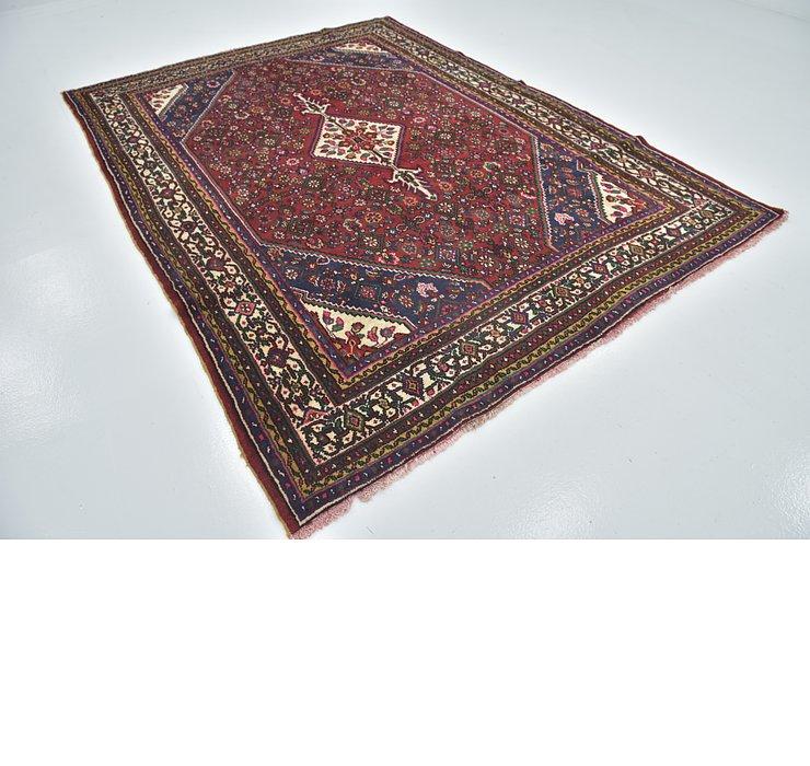 7' x 9' 8 Hamedan Persian Rug