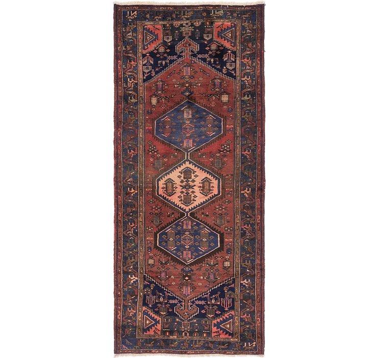 4' 5 x 10' 7 Zanjan Persian Runner Rug