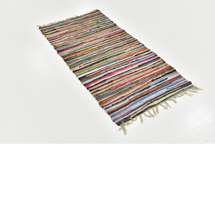 2' 5 x 4' 9 Chindi Cotton Rug