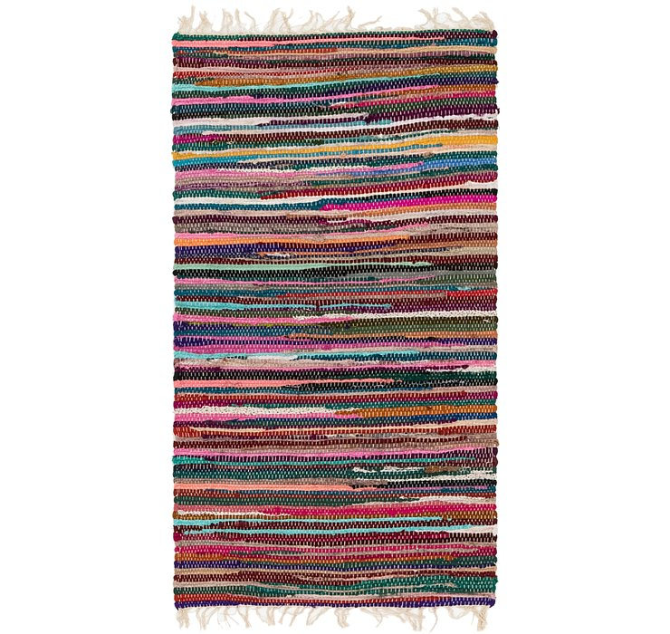 2' 4 x 4' 5 Chindi Cotton Rug