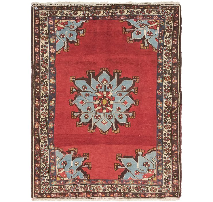 3' 7 x 4' 8 Hamedan Persian Rug