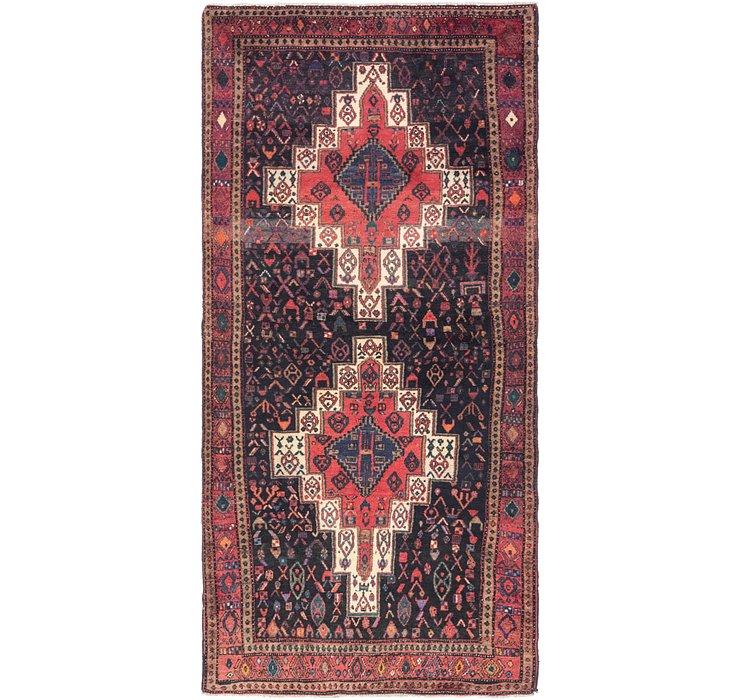 4' 4 x 9' Senneh Persian Runner Rug