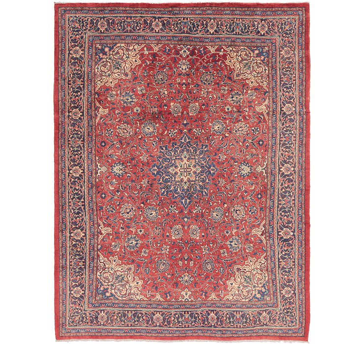 9' 7 x 13' 2 Sarough Persian Rug