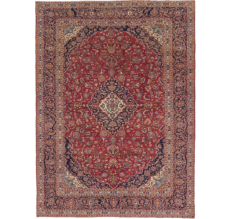 9' 10 x 13' 3 Kashan Persian Rug