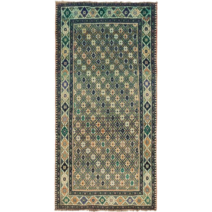 5' x 9' 8 Ghashghaei Persian Runn...