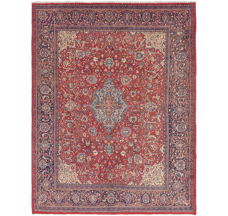 10' 7 x 13' 10 Sarough Persian Rug