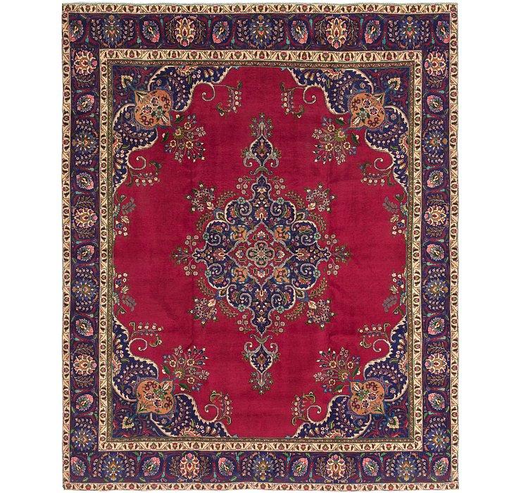 10' x 11' 3 Tabriz Persian Square Rug