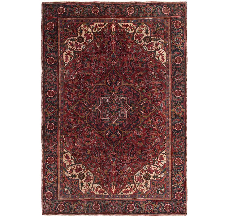 7' 5 x 10' 8 Heriz Persian Rug
