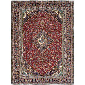HandKnotted 9' 3 x 12' 9 Kashan Persian Rug
