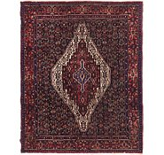 Link to 135cm x 163cm Senneh Persian Square Rug