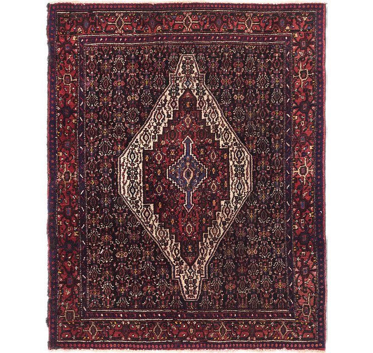 135cm x 163cm Senneh Persian Square Rug
