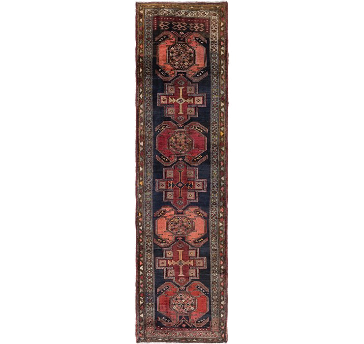 3' 7 x 13' 6 Gholtogh Persian Runner...