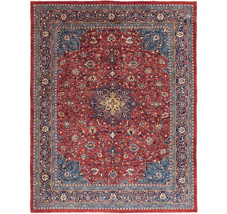 10' 4 x 13' 2 Sarough Persian Rug