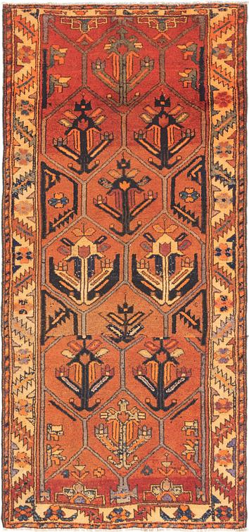 Orange 4 X 8 6 Shiraz Runner Rug Area Rugs Esalerugs