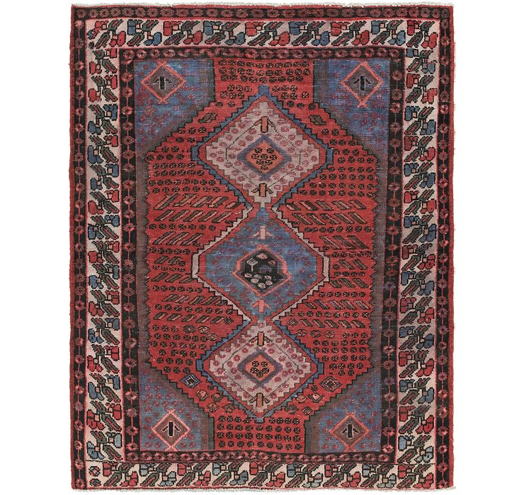 4' 9 x 6' 9 Zanjan Persian Rug