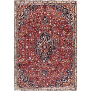 7' x 10' 6 Mashad Persian Rug