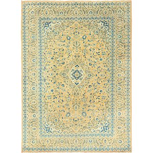 HandKnotted 9' 2 x 12' 5 Kashan Persian Rug