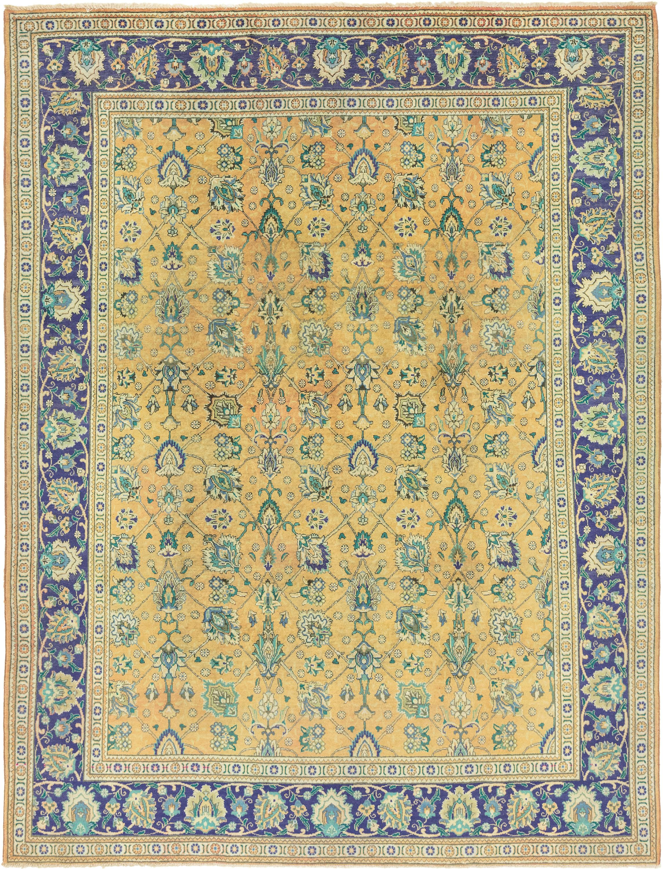 Peach 10 X 13 2 Tabriz Persian Rug Erugs