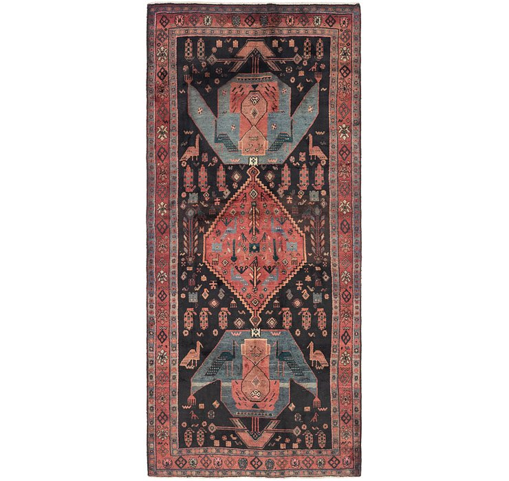 4' 8 x 10' 7 Sirjan Persian Runner Rug