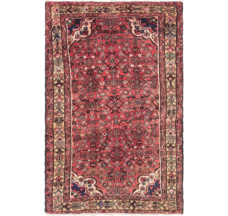 4' 3 x 6' 9 Hossainabad Persian Rug