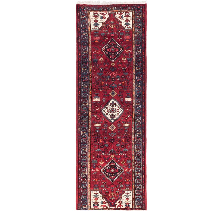 3' 3 x 9' 9 Khamseh Persian Runner ...