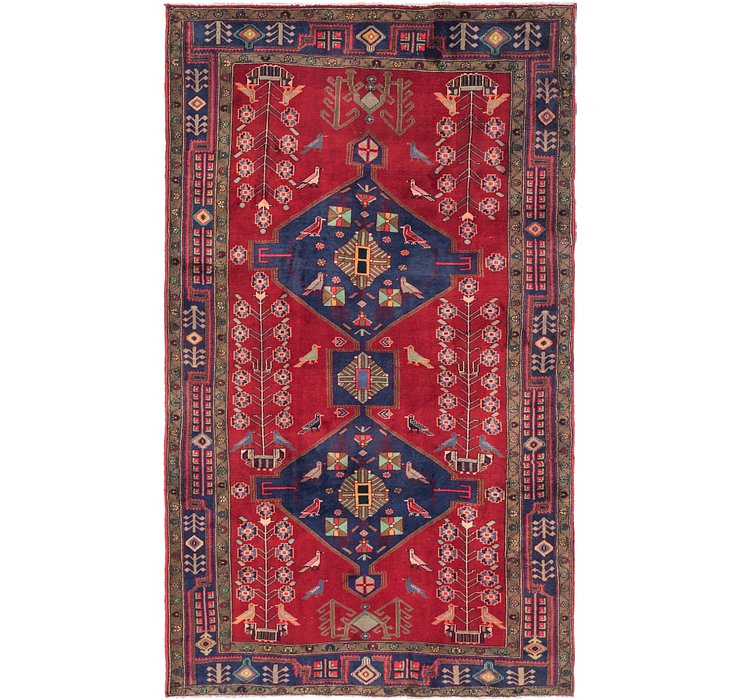 5' 2 x 9' Gholtogh Persian Rug