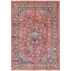 7' x 10' 6 Sarough Persian Rug