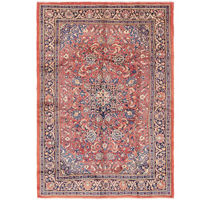 7' x 10' 6 Sarough Persian Rug