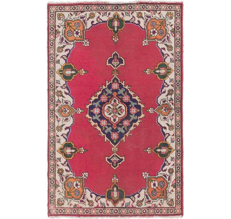 3' 2 x 4' 9 Tabriz Persian Rug