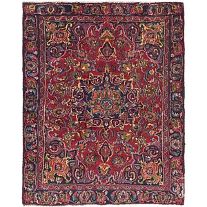 Link to 4' 5 x 5' 7 Mashad Persian Square Rug item page