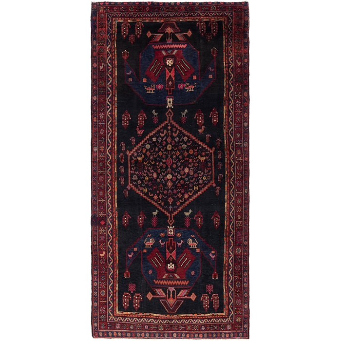 4' 9 x 10' 7 Sirjan Persian Runner Rug