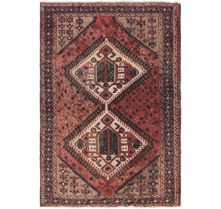 4' 4 x 6' 4 Hamedan Persian Rug