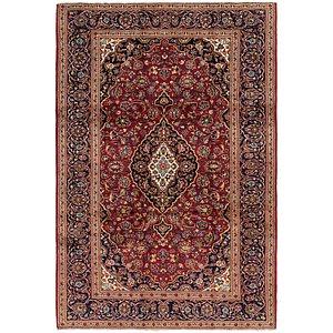 6' 9 x 10' Kashan Persian Rug
