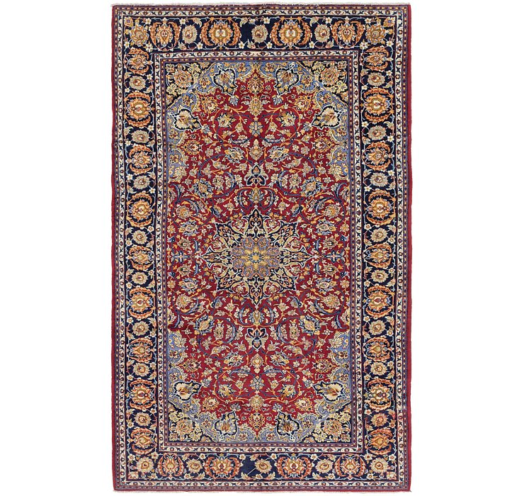 6' 6 x 10' 10 Isfahan Persian Rug