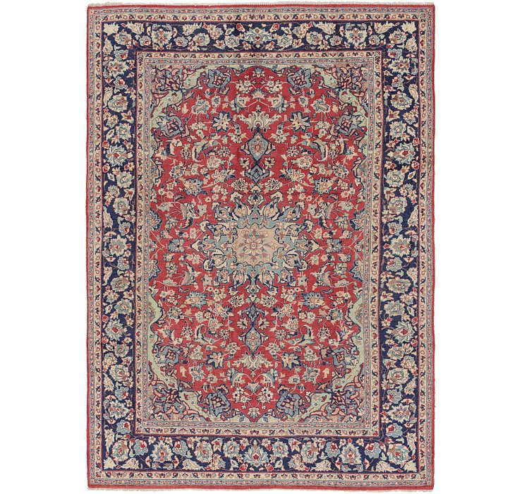 6' 9 x 10' Isfahan Persian Rug