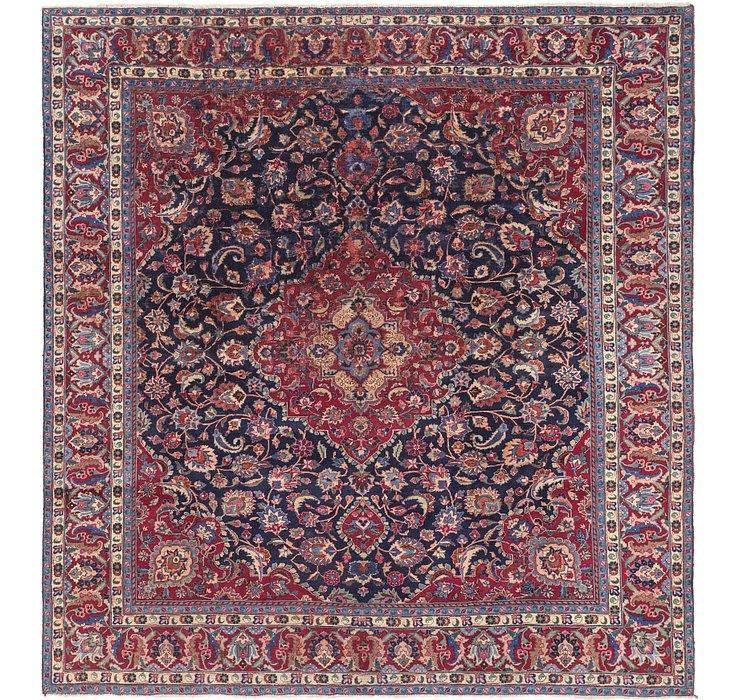300cm x 318cm Mashad Persian Square Rug