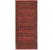 Link to 2' x 4' 3 Torkaman Persian Runner Rug
