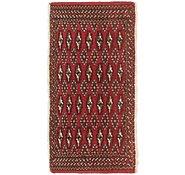 Link to 1' 7 x 3' 4 Torkaman Persian Rug