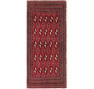 Link to 2' x 4' 5 Torkaman Persian Runner Rug