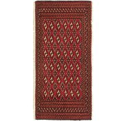 Link to 2' x 4' 3 Torkaman Persian Runner Rug
