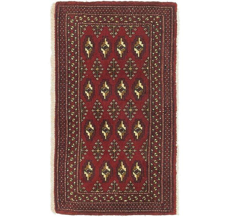 60cm x 102cm Torkaman Persian Rug