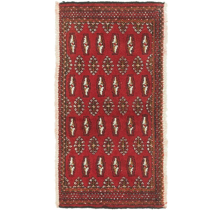 1' 8 x 3' 4 Torkaman Persian Rug