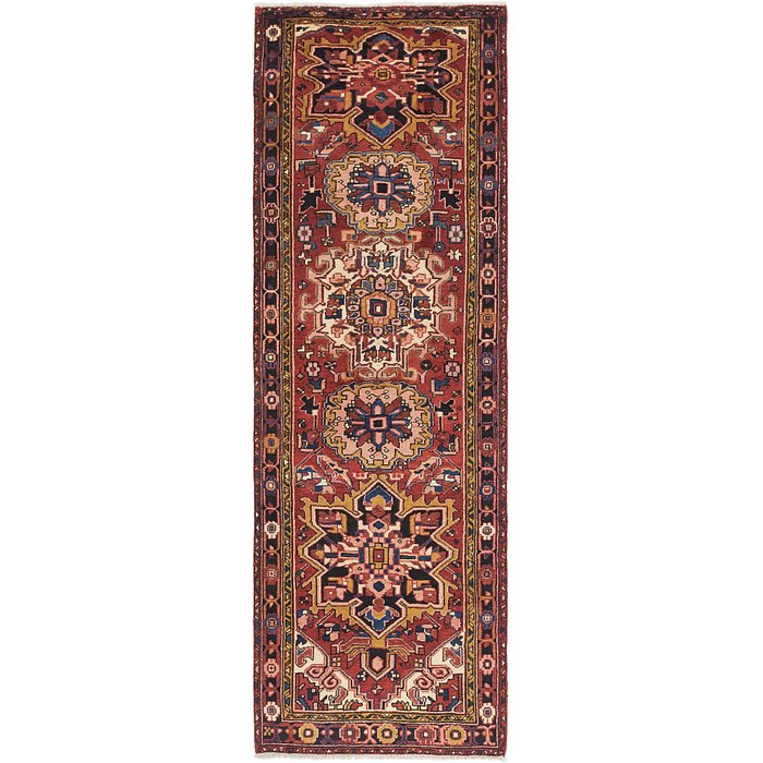 3' 4 x 10' 9 Heriz Persian Runner Rug
