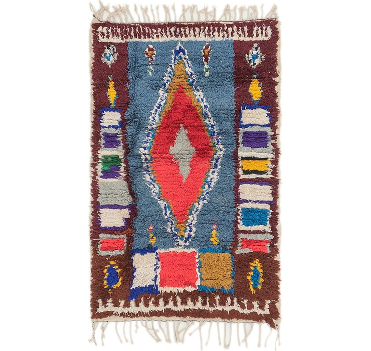 2' 10 x 4' 5 Moroccan Rug