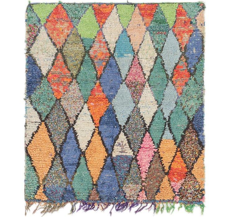 5' x 5' 5 Moroccan Square Rug