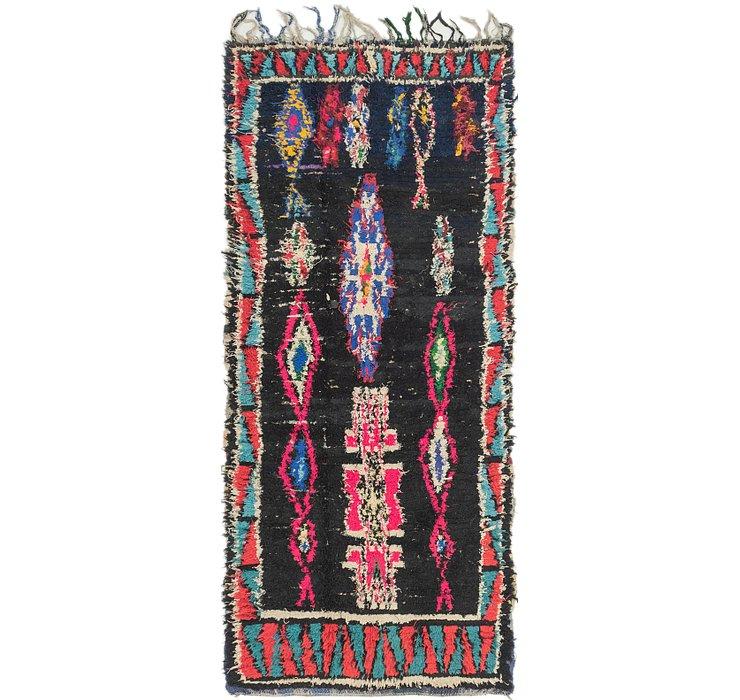3' 9 x 8' 9 Moroccan Runner Rug