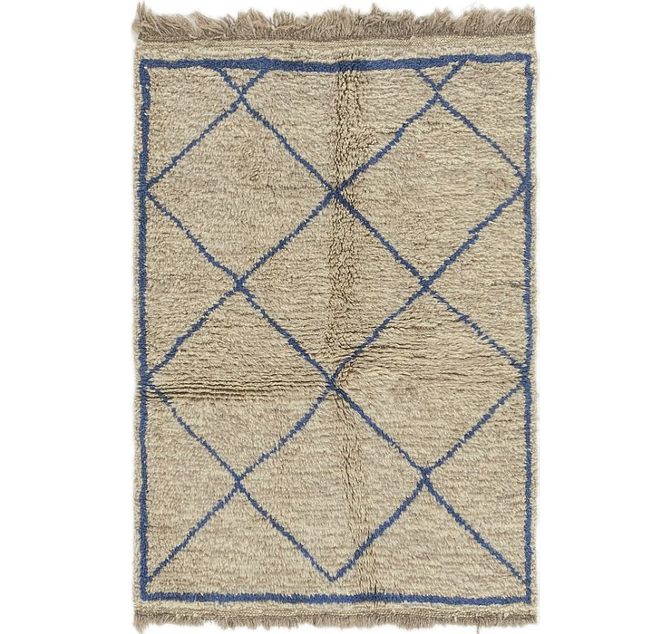 HandKnotted 3' 5 x 5' Moroccan Rug