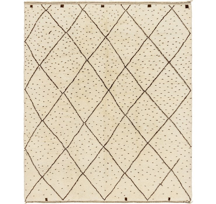 HandKnotted 10' x 12' Moroccan Rug
